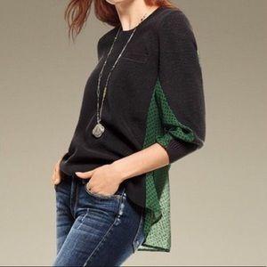 Cabi Get-Together Sweater 3520 Black & Green